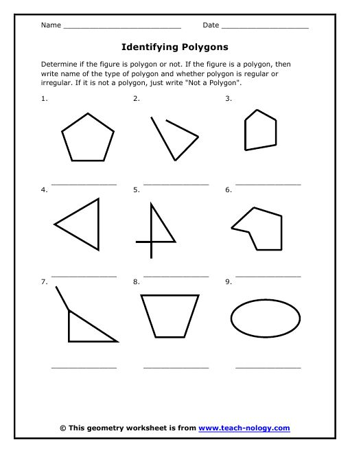 Worksheets Identifying Polygons Worksheet 17 best images about geometry polygons on pinterest magazine click to print polygonsworksheetsmath