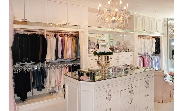 Lisa Vanderpump's walk in closet. Love having everything on hangers, no folding required :)