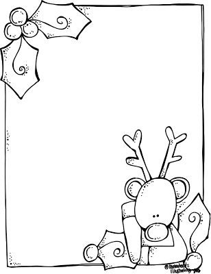 Melonheadz Illustrating A blank Rudolph letter form for Santa! And it's FREE!!!!!