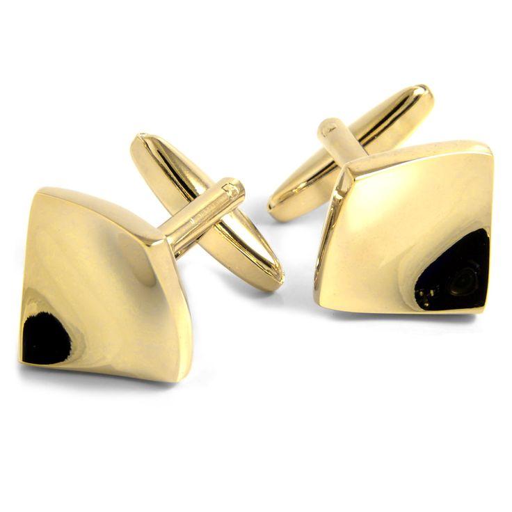 Guld Bøjede Manchetknapper - 149,00kr