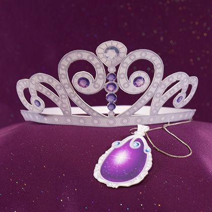 Print this Sofia the First Tiara and Amulet fo your next viewing party!
