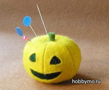 тыква из фетра к хеллоуину
