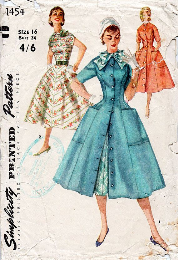 1950s Princess Line Dress and Coat Dress Pattern by BessieAndMaive