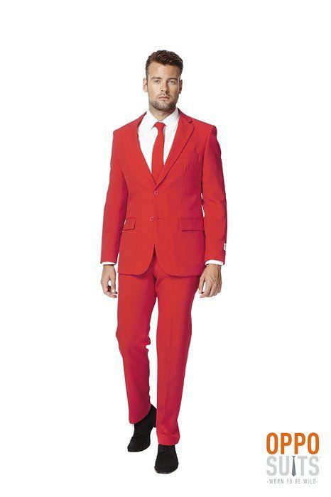 Red Dress Suit For Men (Slim Fit) Colored Blazer Jacket, Pants, Party Costume