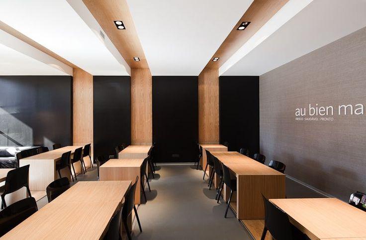 contemporary au bien restaurant interior design ideas #light #corridor