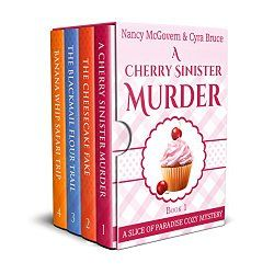 The box set is here! Books 1-4 in the popular series are now available in one big bundle! And at a discounted price: 4 for the price of 3!  Also includes an offer for a free story in the series (a story that cannot be found anywhere else) as well as 4 delicious recipes directly from the stories to match each of the tasty whodunits!...