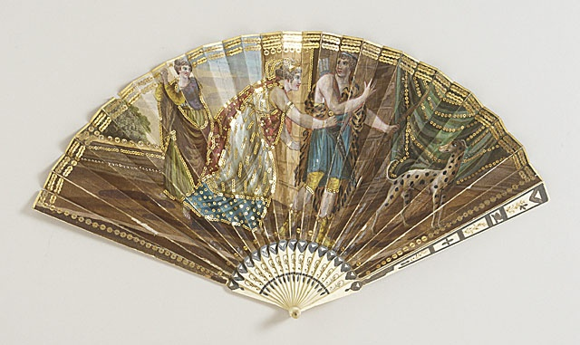 Woman's Folding Fan with Box  France, circa 1810, LACMA Collections Online