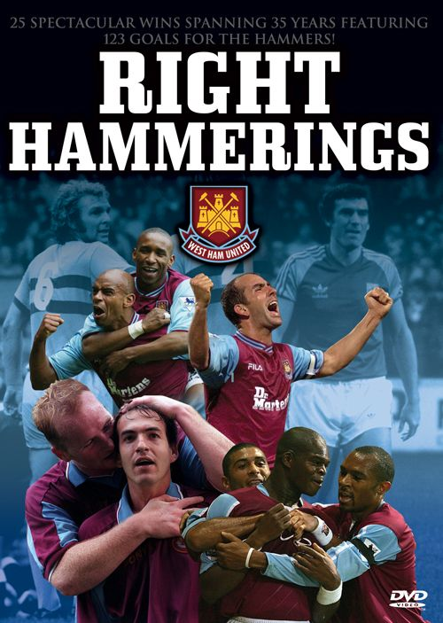 Right Hammerings DVD - featurimng 25 of West Ham United's biggest wins  http://visionsport.co.uk/shop/westham/whurh-dvd.html