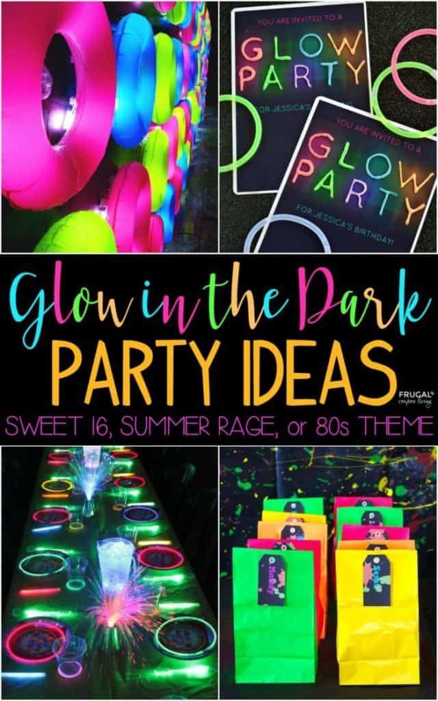 Glow In The Dark Party Ideas Glow Stick Party Neon Birthday Party Glow In Dark Party