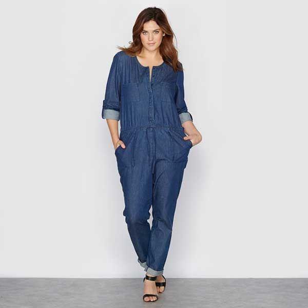 Женский комбинезон джинсовый большого размера, создан дизайнерами, специально для полных женщин,чтобы подчеркнуть достоинства фигуры Размеры до 64-го.