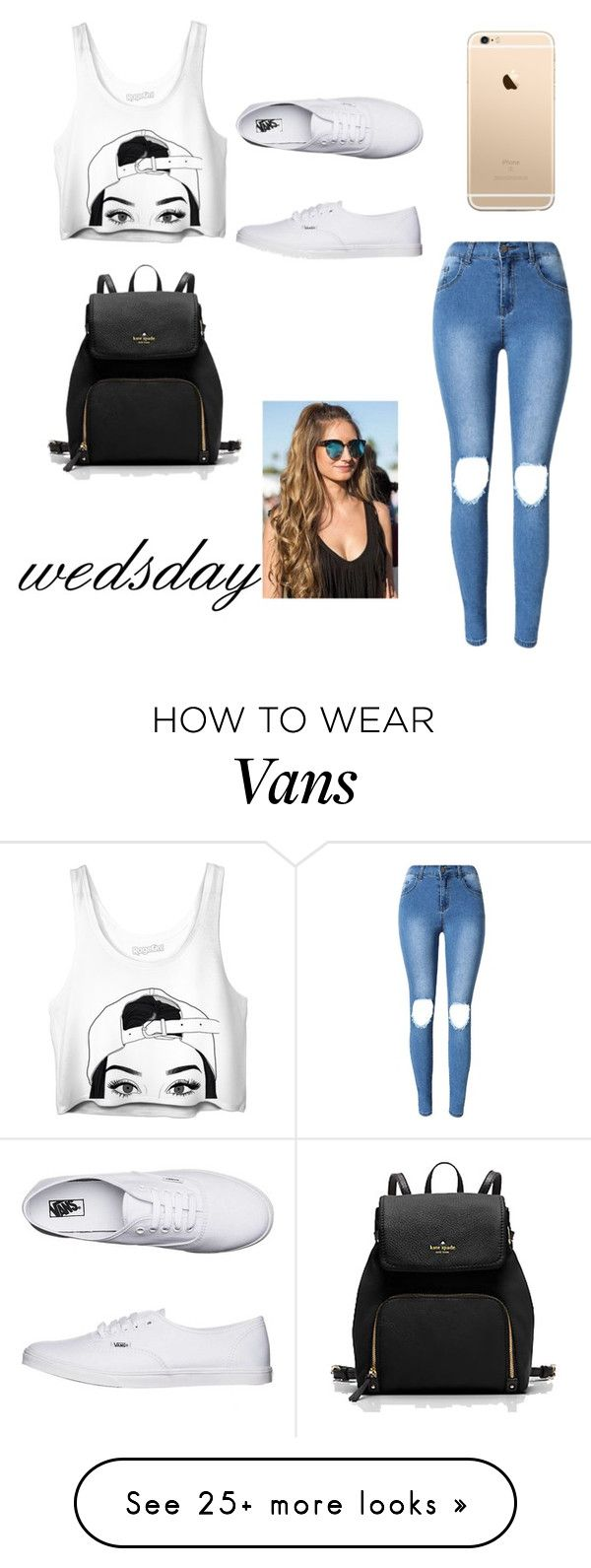 """chasing basic"" by may-boo on Polyvore featuring Vans"