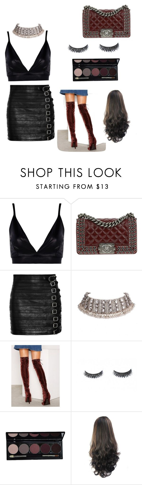 """""""Untitled #30"""" by kylie-cardinali on Polyvore featuring Boohoo, Chanel, Gucci and Nly Shoes"""