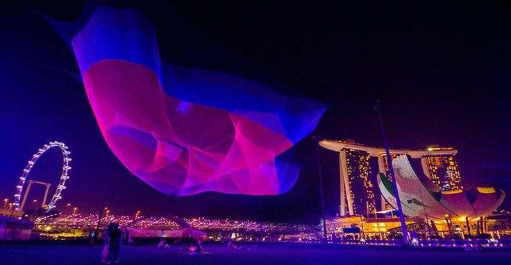 Janet Echelman – la sculpture autrement. #vo7artdesign #créative #structuraldesign | VO7® - Le Blog