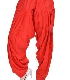 Buy Red Cotton Patiyala Salwar harem-pant online