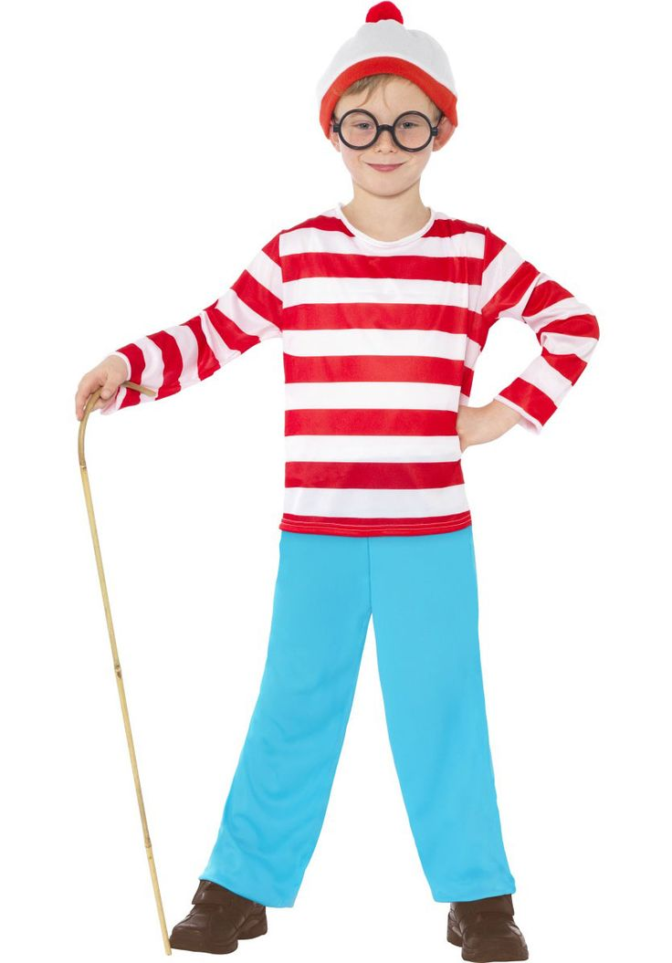 Where''s Wally Childs Costume - General Kids Costumes at Escapade