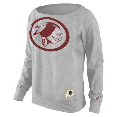 Nike Washington Redskins Ladies Wildcard Epic Tri-Blend Performance Sweatshirt - Ash