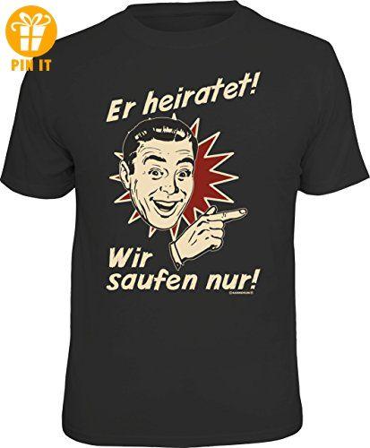 Original RAHMENLOS® T-Shirt für das JGA-Team beim Junggesellenabschied rechts vom Bräutigam: Er heiratet... Größe L, Nr.1518 - T-Shirts mit Spruch | Lustige und coole T-Shirts | Funny T-Shirts (*Partner-Link)