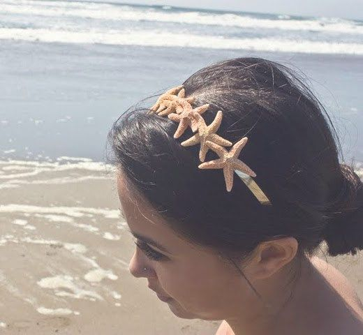 Starfish Tiara Headband Beach Bridal Hair by dreamsbythesea, $60.00