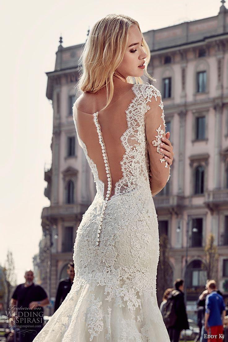 Sheer long sleeve wedding dress   best Wedding dress images on Pinterest  Wedding frocks Bridal