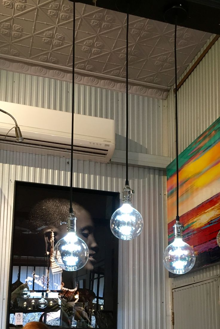 Industrial Chrome finished hanging lights