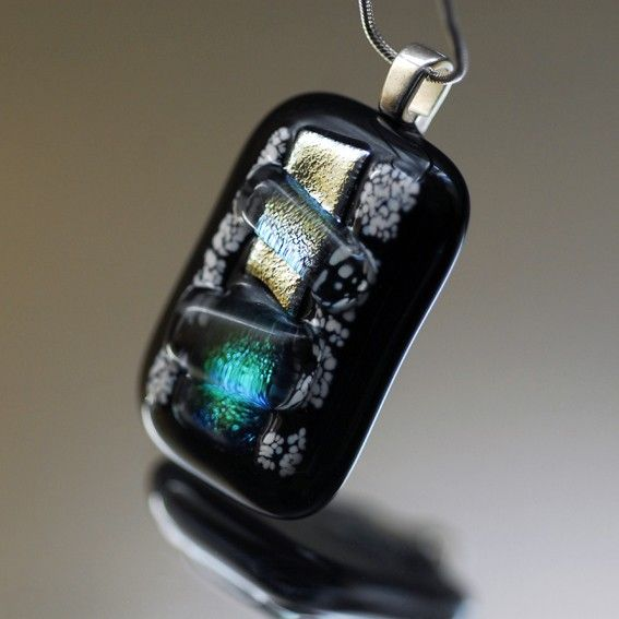 Beautiful fused glass necklace