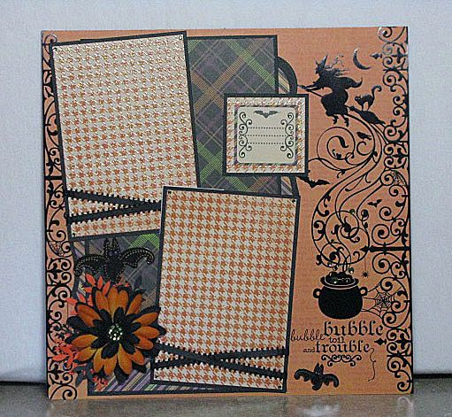 Win this single page Halloween Scrapbook Layout.  Visit my blog for details.