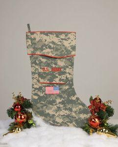 U.S. Army Christmas Stocking ACU fabric