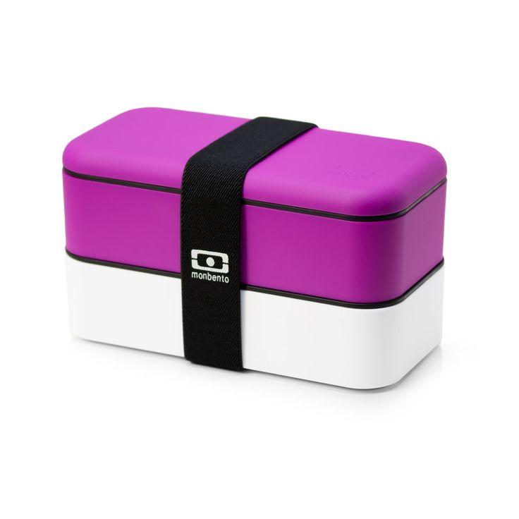 pretty fuchsia bento box: Monbento Originals, Originals Bento, Bento Boxes, Lunch Boxes, White, Lunches Boxes, Products, Lunchbox, Bentobox