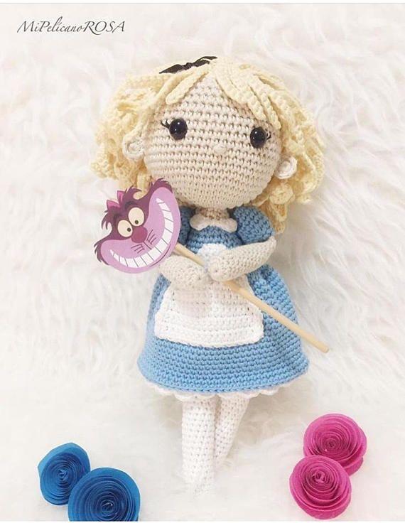 Alice In Wonderland Inspired Doll Amigurumi Doll Crochet Doll