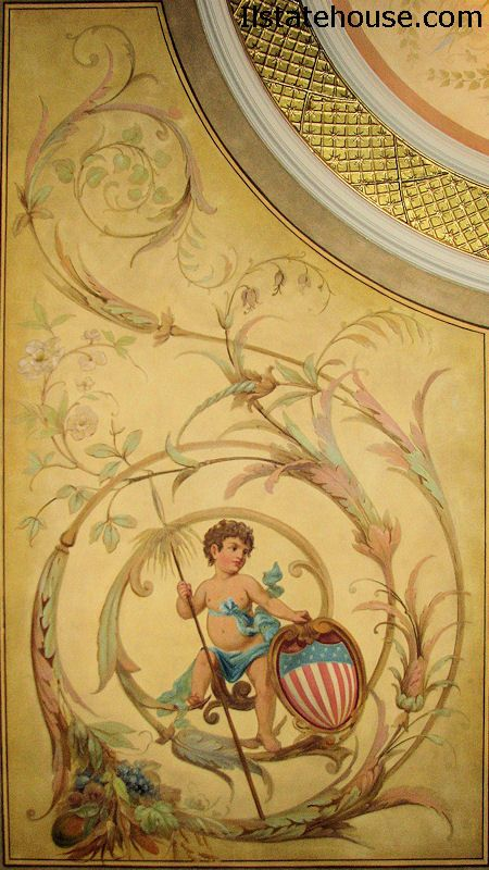painted ceiling in Illinois State Capital building