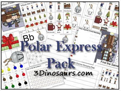 Educational Freebie: Polar Express Printable Preschool Pack