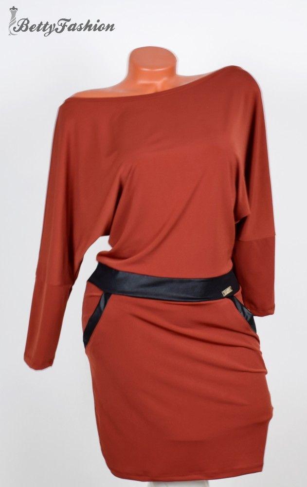 7fc225b40a Selymes anyagú denevérujjú ruha S/M/L - BettyFashion női ruha webáruház,  Ruha