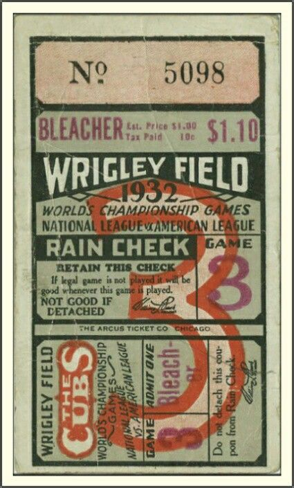 Chicago Cubs: World Series Ticket, Game 3 (1932)