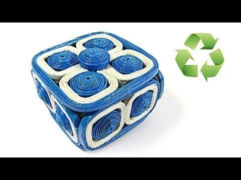 ▶ DIY: Caja hecha con periódico. Newspaper box. - YouTube