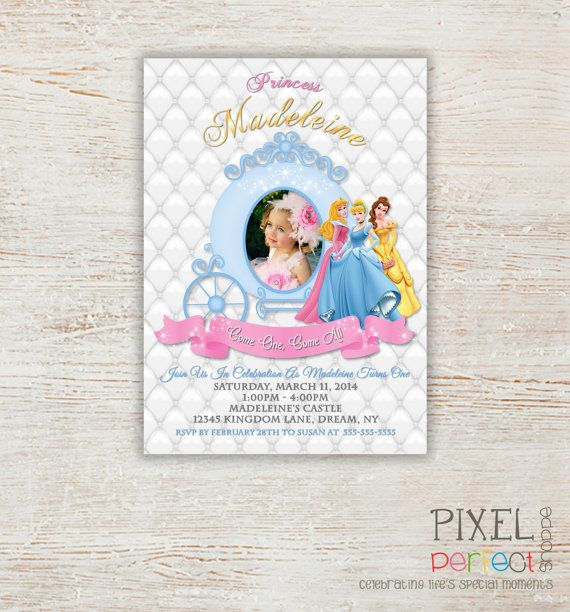 57 best Princess Invitations Princess Birthday Princess Birthday – 1st Birthday Princess Invitation