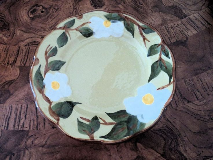 Vintage Stangl Pottery Bread and Butter Plate Dish White Dogwood #Stangl & 74 best Stangl images on Pinterest | Dinnerware Antique pottery ...