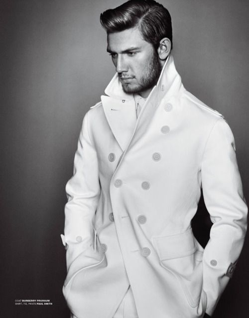 Alex Pettyfer - Burberry (two things I find hot hot hot!): White Coats, Men Style, Men Fashion, Labs Coats, Alex Pettyfer, Guys Hair, Man Style, Men Hairstyles, Alex O'Loughlin
