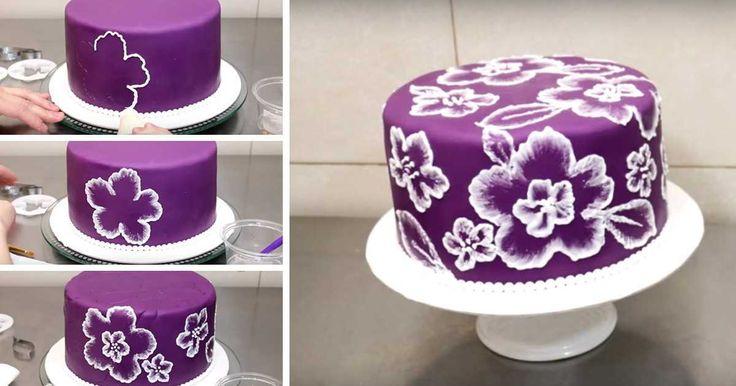 Okouzlující zdobení dortu pomocí vykrajovátek - recept a návod