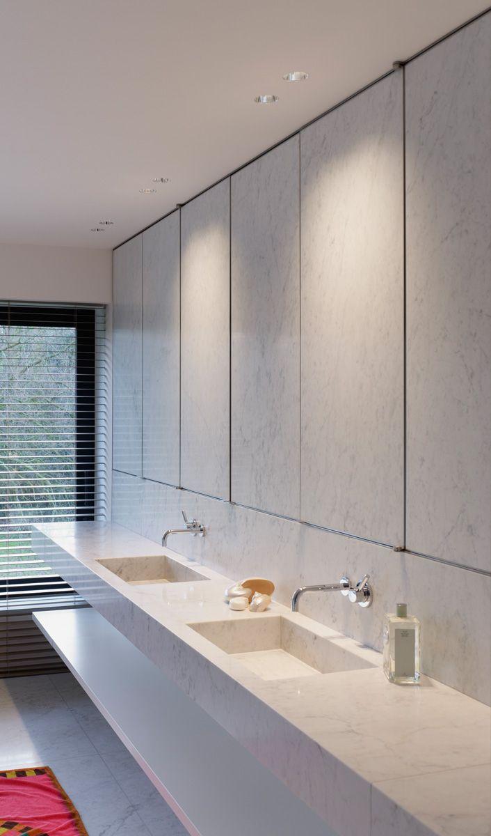 Stone clad cabinet doors