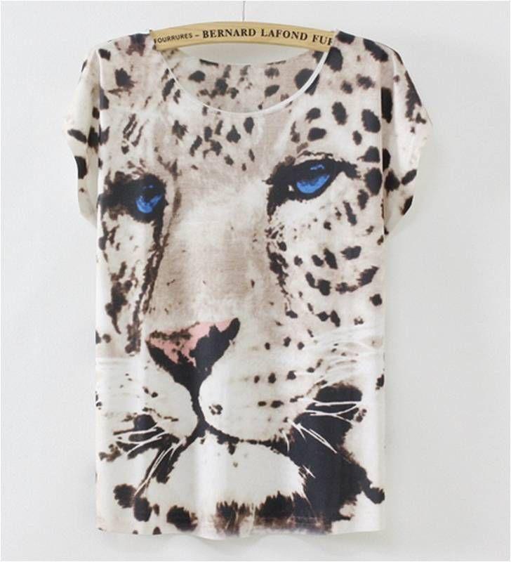Bluson blanco estampado total tigre animal print