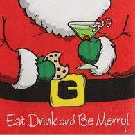 Napkins Beverage Holiday Eat & Drink Pkt16 $8.95   A5095496