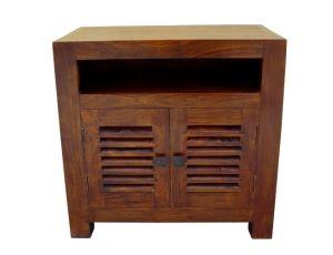 Slatted TV Cabinet