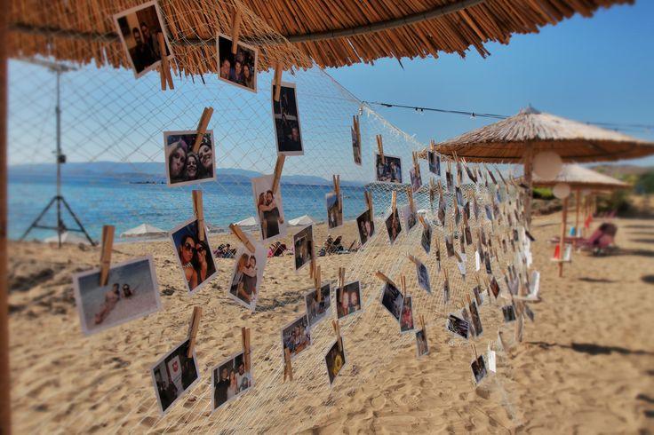 Pin your lovely photo - Share your lovely moments _ Fisher net style #weddingideas #beachwedding #mythosweddings #kefalonia