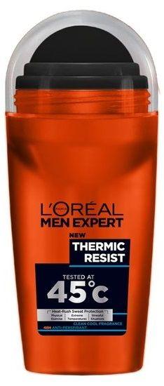 Loreal L'Oréal Paris Deodorant - Men Expert Thermic Resist 50ml  Description: L'Oral Paris Deodorant - Men Expert Thermic Resist 50ml Een anti-transpirant die extreme bescherming biedt tot een temperatuur van 45C en 48 uur werkt. De Men Expert-lijn biedt een complete range producten voor mannen en advies voor alle behoeften en huidtypen. Volg de adviezen van Men Expert om je huid goed voor te bereiden op het scheren en erna te verzorgen. Gebruik de Men Expert Thermic Resist in combinatie met…