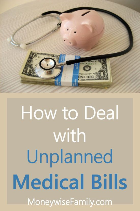 How a Personal Debt Consolidation Loan Can Help with Unplanned Medical Bills http://moneywisefamily.com/unplanned-medical-bills/ #loans #money #health