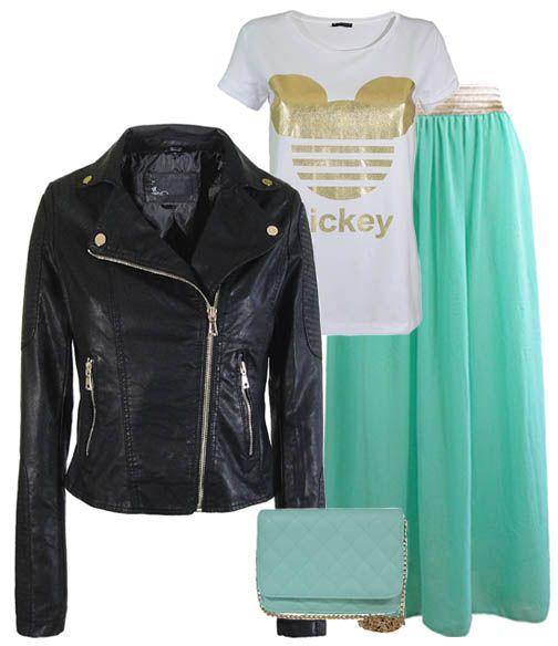 Maxi mint skirt