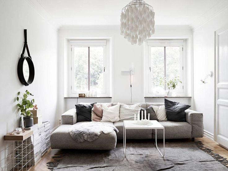 Apartamento pequeño nórdico de 53 metros²: decoración de la sala