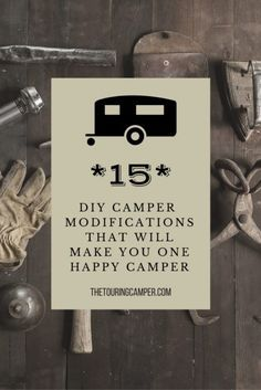 An index of simple camper modifications to make your camper work better for you!