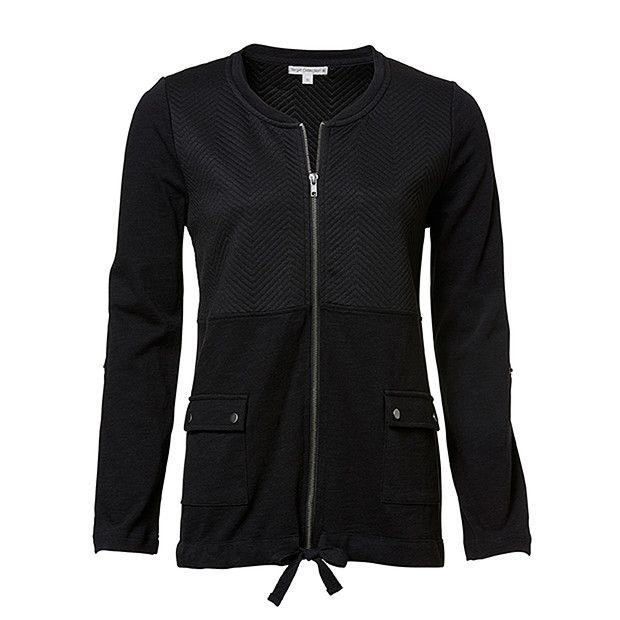 Health Goth // Target / Active Zip Front Jacket - Black