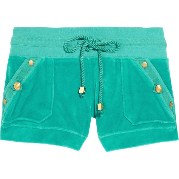 Juicy Couture Elsa Velour Shorts (€39) ❤ liked on Polyvore featuring shorts, bottoms, pants, short, women, pull on shorts, velour shorts, juicy couture shorts, juicy couture and short shorts